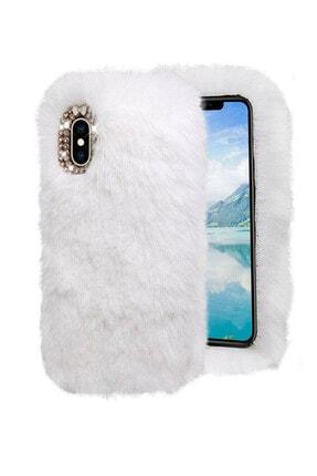 Omelo Samsung Galaxy C7 C7000 Kılıf Peluş Tüylü Taşlı Silikon Tpu Kapak Hediyeli 0