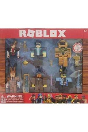DLN Roblox Büyük 6 Adet Figür 7 Adet Aksesuar Oyuncak Set 1