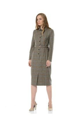 BİRELİN Kadın Gri Melba Elbise 1