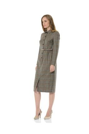 BİRELİN Kadın Gri Melba Elbise 2