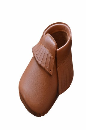 Funny Baby Hakiki Deri Ilk Adım Ayakkabı Makosen Yumuşak Taban Kaymaz 0