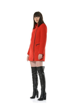 BİRELİN Kadın Kırmızı Adore Kaban 3