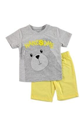 Tuffy Erkek Bebek Pawsome Ayıcık 2li Tshirt-Şort Takım 0