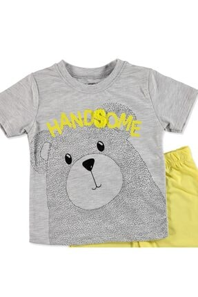 Tuffy Erkek Bebek Pawsome Ayıcık 2li Tshirt-Şort Takım 1