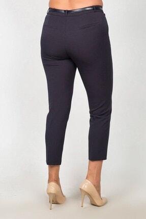 Womenice Kadın Lacivert Yüksek Bel Klasik Kumaş Pantolon 2