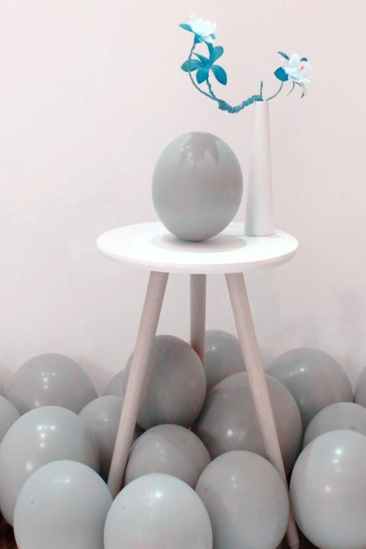 """Pastel Mat Gri Balon 12 """" Inç 25 Adet Macaron Gri"""