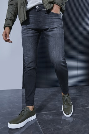 Sateen Men Erkek Koyu Antrasit Denim Pantolon 0