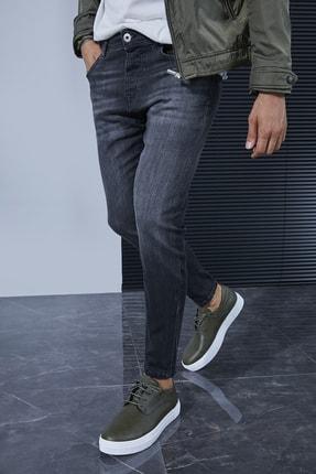 Sateen Men Erkek Koyu Antrasit Denim Pantolon 1