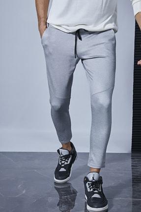Sateen Men Erkek Gri Jogger Pantolon 1