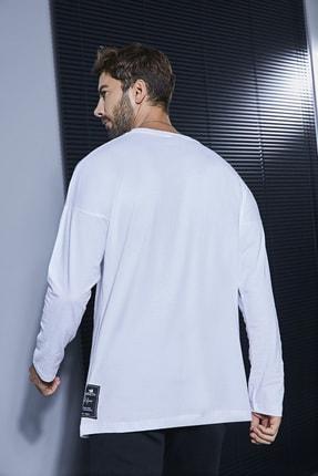 Sateen Men Erkek Beyaz Uzun Kol Body 3