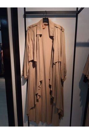 D'She Kadın Vizon Ceket Yakalı Verev Kesim Salaş Kesim Tunik 1