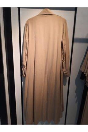 D'She Kadın Vizon Ceket Yakalı Verev Kesim Salaş Kesim Tunik 2