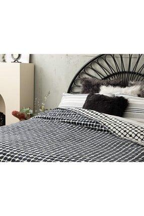English Home Pamuklu Çift Kişilik Battaniye 200x220 Cm Beyaz - Lacivert 2