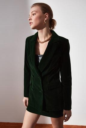 TRENDYOLMİLLA Yeşil Düğme Detaylı Blazer Ceket TWOAW20CE0367 1