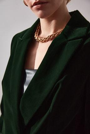 TRENDYOLMİLLA Yeşil Düğme Detaylı Blazer Ceket TWOAW20CE0367 2