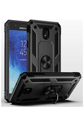 Vision Samsung Galaxy J7 Pro Vega Yüzüklü Siyah Zırhlı Tank Kapak 0