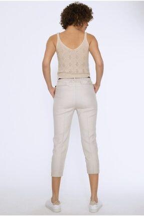 Quzu Kadın Bej Kemerli Pantolon 4