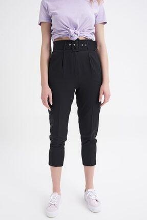 Quzu Kadın Siyah Kemerli Pantolon 1