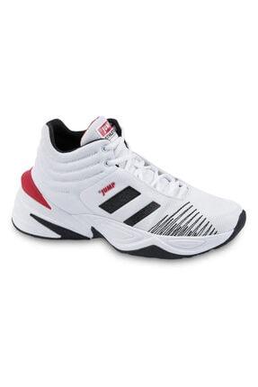 Jump Erkek Beyaz Siyah Bilekli Basketbol Ayakkabısı 0