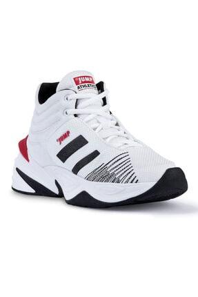Jump Erkek Beyaz Siyah Bilekli Basketbol Ayakkabısı 1