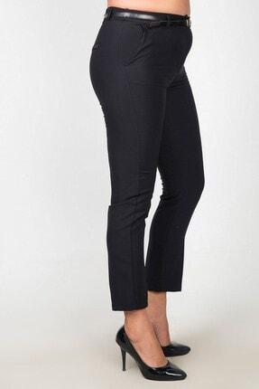 Womenice Kadın Siyah Yüksek Bel Klasik Kumaş Büyük Beden Pantolon 1