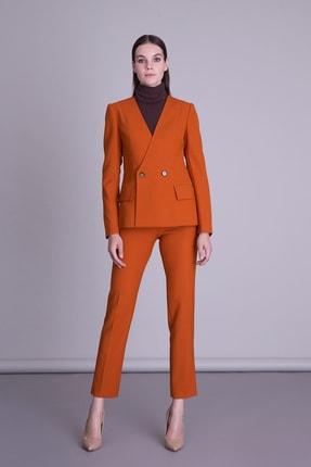 Picture of Kadın  Turuncu Boru Paça Kumaş Pantolon