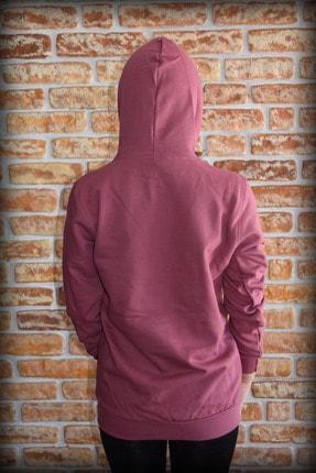 YGMR Fashion Kadın Mor  Sweatshirt Gknpink321 3