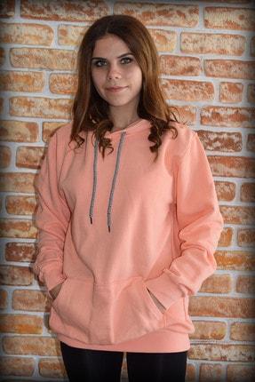 YGMR Fashion Kadın Pembe Sweatshirt Gknorange321 0
