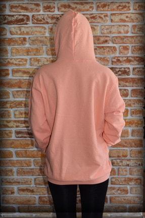 YGMR Fashion Kadın Pembe Sweatshirt Gknorange321 2