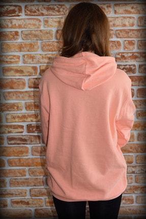 YGMR Fashion Kadın Pembe Sweatshirt Gknorange321 3