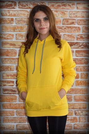 YGMR Fashion Kadın Sarı Sweatshirt Gknyellow321 0