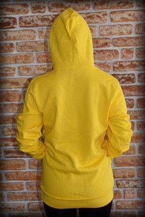 YGMR Fashion Kadın Sarı Sweatshirt Gknyellow321 3