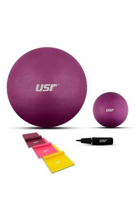 Usr 25+65 cm Pilates Topu + Pompası + 3 Lastik 25652bl 0