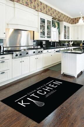 RugViva Makinede Yıkanabilen Kaymaz Tabanlı Mutfak Halısı AR019 0