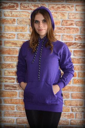 YGMR Fashion Kadın Mor Sweatshirt Gknpurple321 1