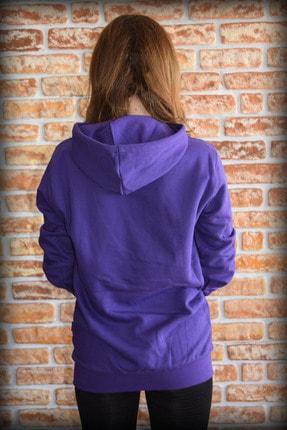 YGMR Fashion Kadın Mor Sweatshirt Gknpurple321 2