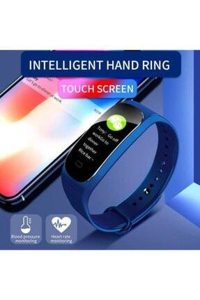 Kingboss M5 Akıllı Bileklik, Ateş Ölçer,smart, Adım Sayar, Nabız Ölçer, Android Ve Ios Bağlantılı Akıllı Saat 2