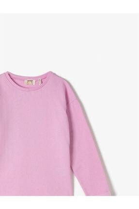 Koton Pamuklu Bisiklet Yaka Uzun Kollu Basic Sweatshirt 2