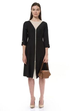 BİRELİN Kadın Siyah Elbise 0