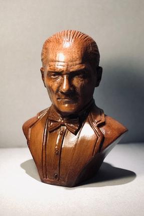 Ahşap Mustafa Kemal Atatürk Büst Biblo 0