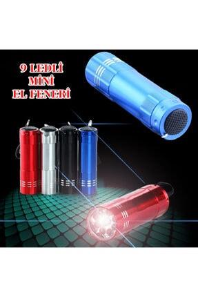 renn Süper Parlak 9 Ledli Metal Mini El Feneri 2