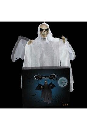 Ricardo Halloween Kanat Çırpan Kurukafa Beyaz 1