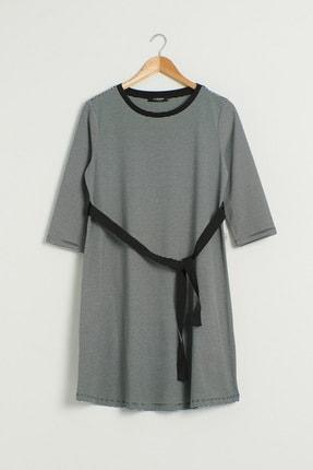 LC Waikiki Kadın Siyah Çizgili Elbise 0WEM99Z8 0