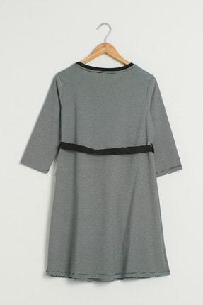 LC Waikiki Kadın Siyah Çizgili Elbise 0WEM99Z8 1