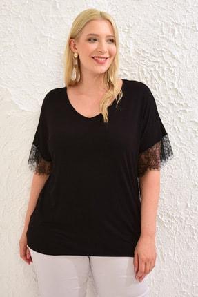 LC Waikiki Kadın Siyah Tişört 0WCC22Z8 0
