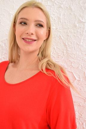 LC Waikiki Kadın Canlı Kırmızı Tişört 0WCC59Z8 4