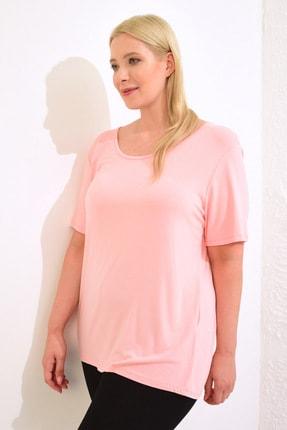 LC Waikiki Kadın Pembe Tişört 0WCC59Z8 1