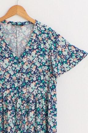 LC Waikiki Kadın Yeşil Baskılı Elbise 0WET32Z8 2