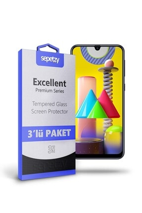 sepetzy Samsung Galaxy M31 Temperli Kırılmaz Cam Ekran Koruyucu 3'lü Paket 0