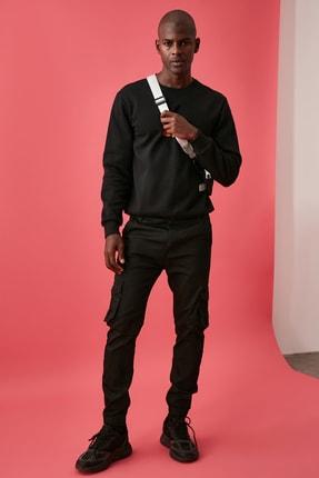TRENDYOL MAN Siyah Erkek Kargo Jogger Pantolon TMNAW20PL0633 3